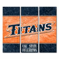 California State Fullerton Titans Triptych Double Border Canvas Wall Art