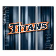 California State Fullerton Titans Triptych Rush Canvas Wall Art