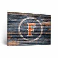 California State Fullerton Titans Weathered Canvas Wall Art