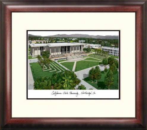 California State Northridge Matadors Alumnus Framed Lithograph