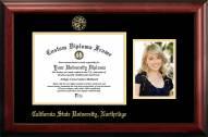 California State Northridge Matadors Gold Embossed Diploma Frame with Portrait