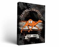 Campbell Fighting Camels Banner Canvas Wall Art