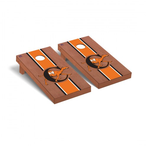 Campbell Fighting Camels Rosewood Stained Stripe Cornhole Game Set