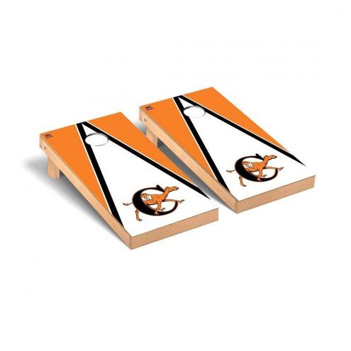 Campbell Fighting Camels Triangle Wooden Cornhole Game Set