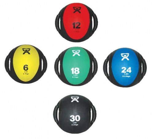 Cando Dual Handle Medicine Ball Set - 5 Medicine Balls