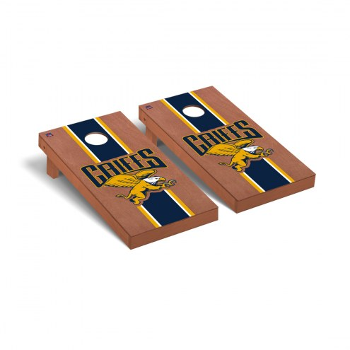 Canisius Golden Griffins Rosewood Stained Stripe Cornhole Game Set
