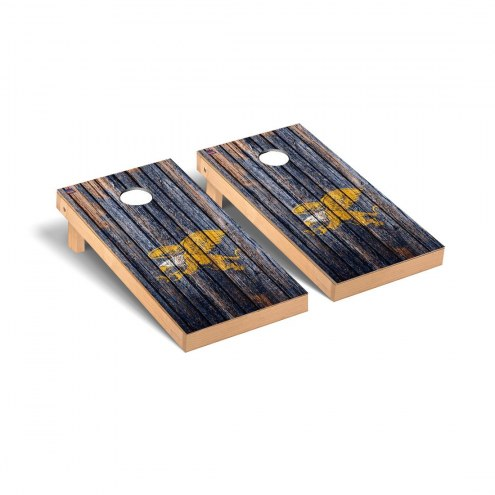 Canisius Golden Griffins Weathered Cornhole Game Set
