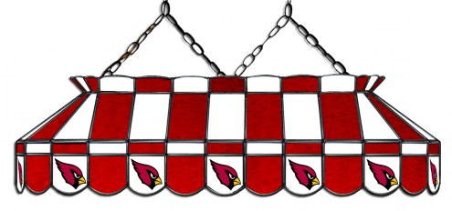 "Arizona Cardinals NFL Team 40"" Rectangular Stained Glass Shade"