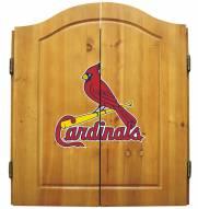 St. Louis Cardinals MLB Complete Dart Board Cabinet Set (w/ darts & flights)