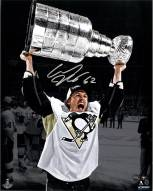 Carl Hagelin Signed Holding Stanley Cup 8 x 10 Photo