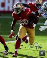 Carlos Hyde Signed 49ers Action 8 x 10 Photo