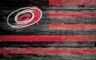 "Carolina Hurricanes 11"" x 19"" Distressed Flag Sign"