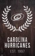 "Carolina Hurricanes 11"" x 19"" Laurel Wreath Sign"