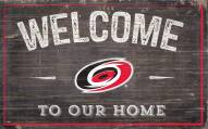 """Carolina Hurricanes 11"""" x 19"""" Welcome to Our Home Sign"""