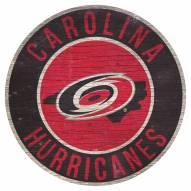 "Carolina Hurricanes 12"" Circle with State Sign"