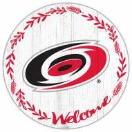 "Carolina Hurricanes  12"" Welcome Circle Sign"