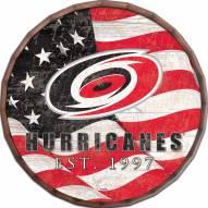 """Carolina Hurricanes  16"""" Flag Barrel Top"""