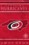 "Carolina Hurricanes  17"" x 26"" Coordinates Sign"