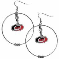 "Carolina Hurricanes 2"" Hoop Earrings"