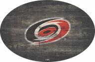 "Carolina Hurricanes 46"" Distressed Wood Oval Sign"