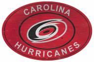 "Carolina Hurricanes 46"" Heritage Logo Oval Sign"
