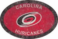 "Carolina Hurricanes 46"" Team Color Oval Sign"