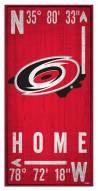 "Carolina Hurricanes  6"" x 12"" Coordinates Sign"