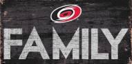 """Carolina Hurricanes 6"""" x 12"""" Family Sign"""