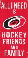 "Carolina Hurricanes 6"" x 12"" Friends & Family Sign"