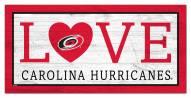 "Carolina Hurricanes 6"" x 12"" Love Sign"
