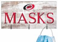 """Carolina Hurricanes 6"""" x 12"""" Mask Holder"""
