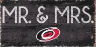 "Carolina Hurricanes 6"" x 12"" Mr. & Mrs. Sign"