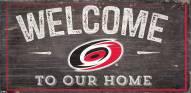 "Carolina Hurricanes 6"" x 12"" Welcome Sign"