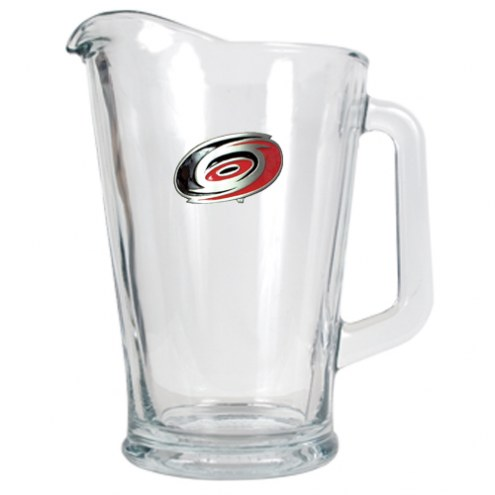 Carolina Hurricanes 60 Oz. Glass Pitcher - Primary Logo