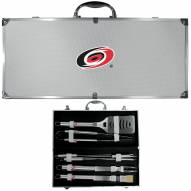 Carolina Hurricanes 8 Piece Stainless Steel BBQ Set w/Metal Case