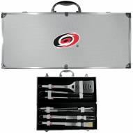 Carolina Hurricanes 8 Piece Stainless Steel BBQ Set w/Metal Case