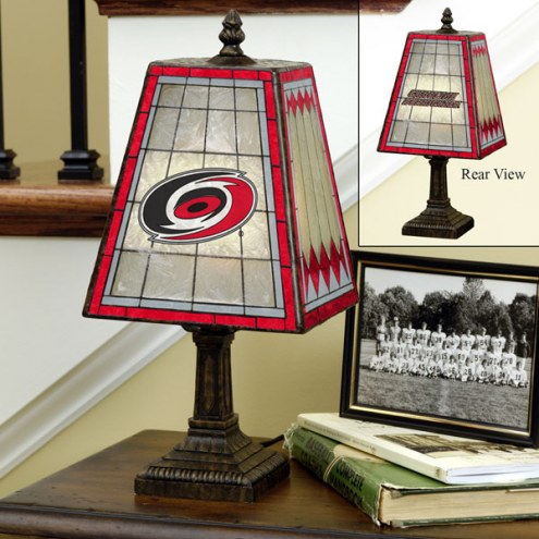 Carolina Hurricanes Art Glass Table Lamp