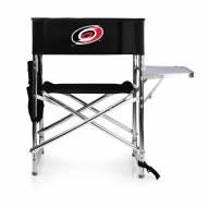 Carolina Hurricanes Black Sports Folding Chair