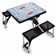 Carolina Hurricanes Black Sports Folding Picnic Table