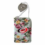 Carolina Hurricanes Canvas Floral Smart Purse