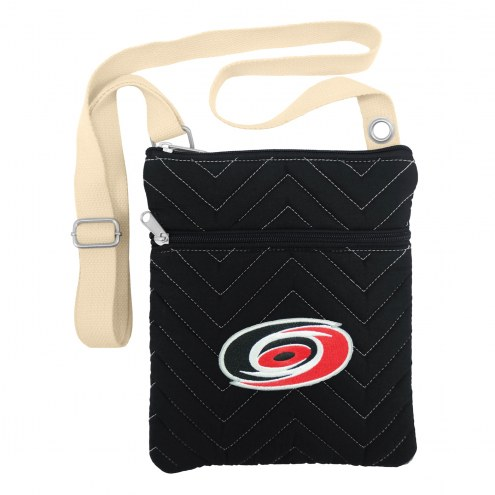 Carolina Hurricanes Chevron Stitch Crossbody Bag