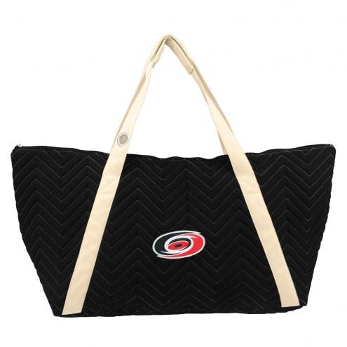 Carolina Hurricanes Chevron Stitch Weekender Bag