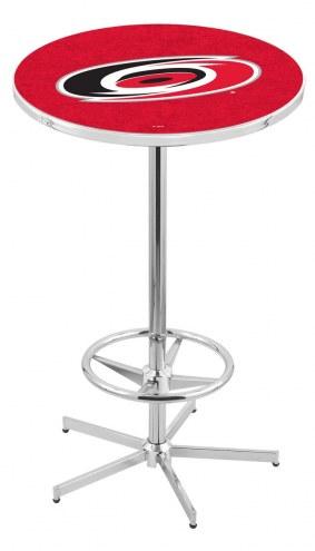 Carolina Hurricanes Chrome Bar Table with Foot Ring