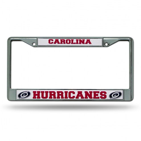 Carolina Hurricanes Chrome License Plate Frame