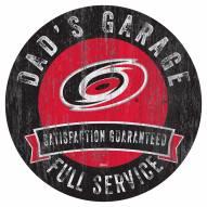 Carolina Hurricanes Dad's Garage Sign