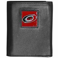Carolina Hurricanes Deluxe Leather Tri-fold Wallet