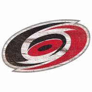 Carolina Hurricanes Distressed Logo Cutout Sign