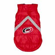 Carolina Hurricanes Dog Puffer Vest