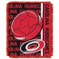 Carolina Hurricanes Double Play Woven Throw Blanket