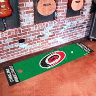 Carolina Hurricanes Golf Putting Green Mat